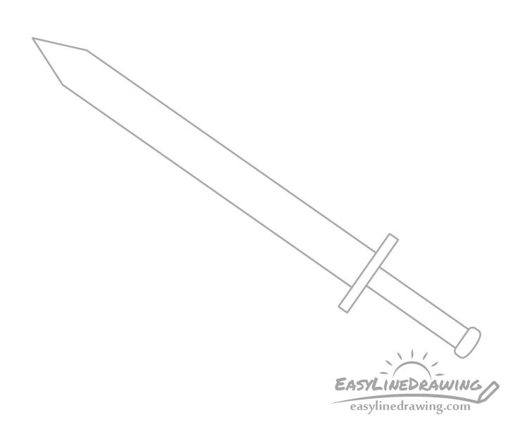 Sword pommel drawing