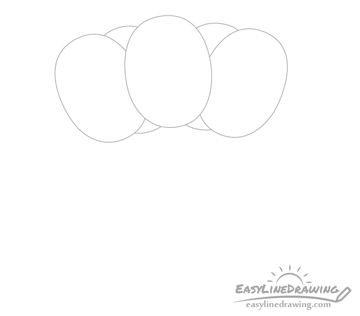 Balloons background drawing