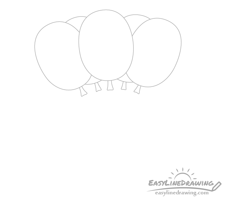 Balloons bottoms drawing