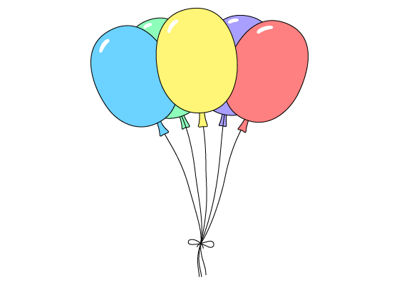 Balloons drawing tutorial