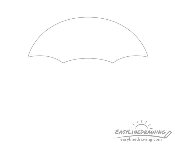 Umbrella canopy drawing