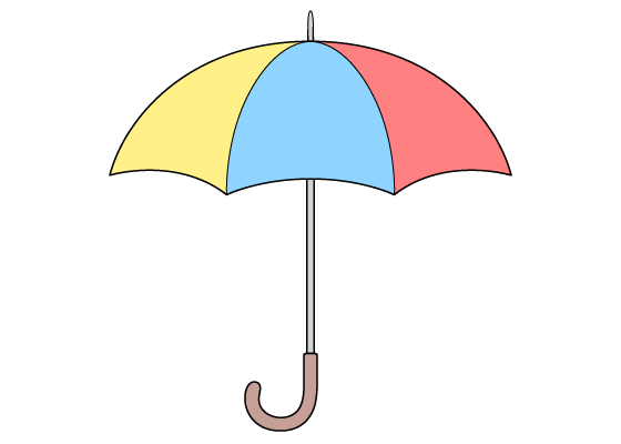Umbrella drawing tutorial