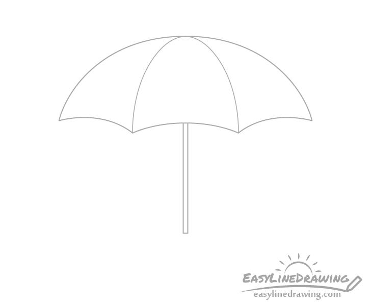 Umbrella pole drawing
