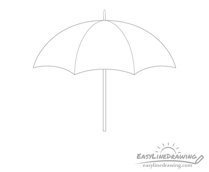 Umbrella tip drawing