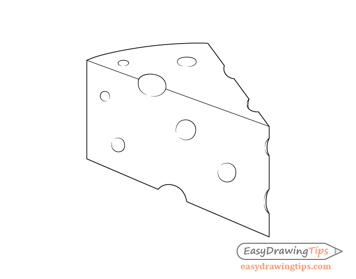 Cheese line drawing