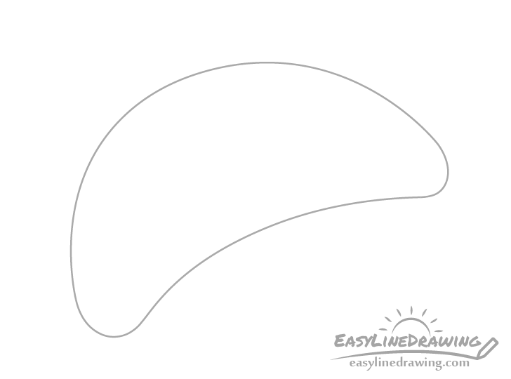 Croissant outline drawing