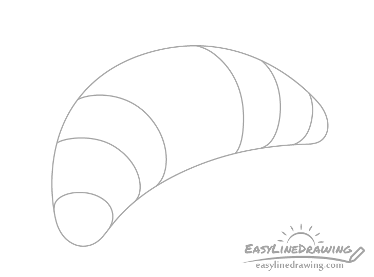 Croissant sections drawing