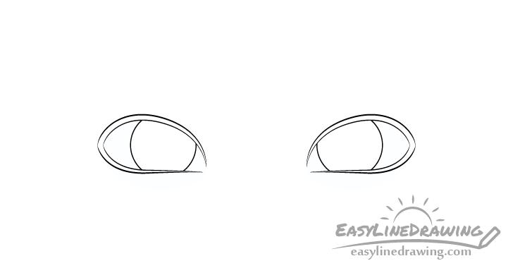 Angry eyes irises drawing