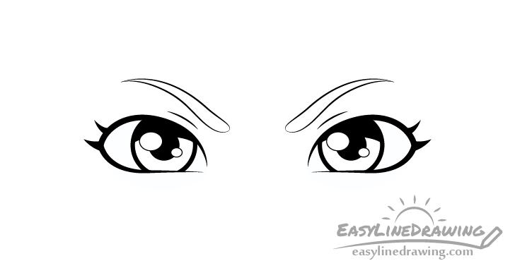 Angry eyes shading