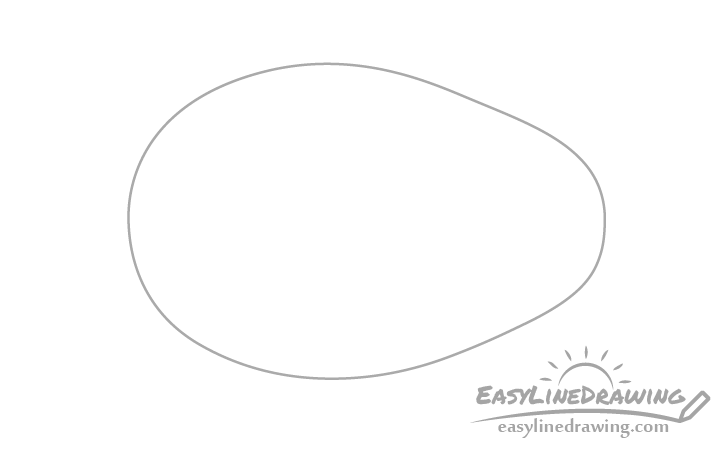 Avocado outline drawing