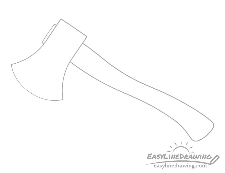 Axe eye drawing