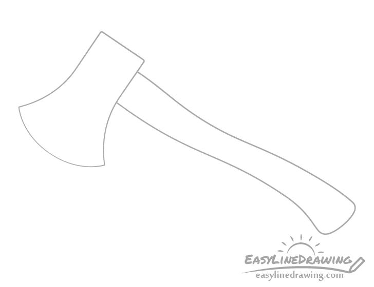 Axe handle drawing