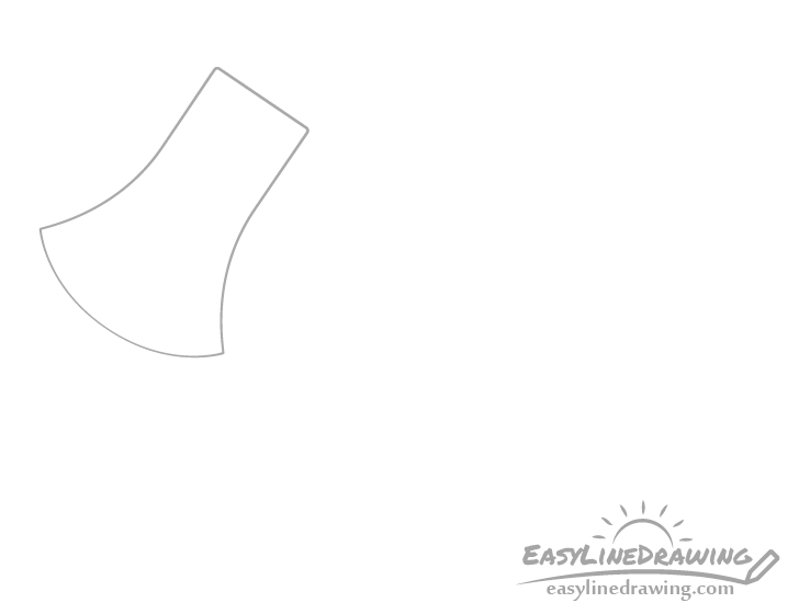 Axe head drawing