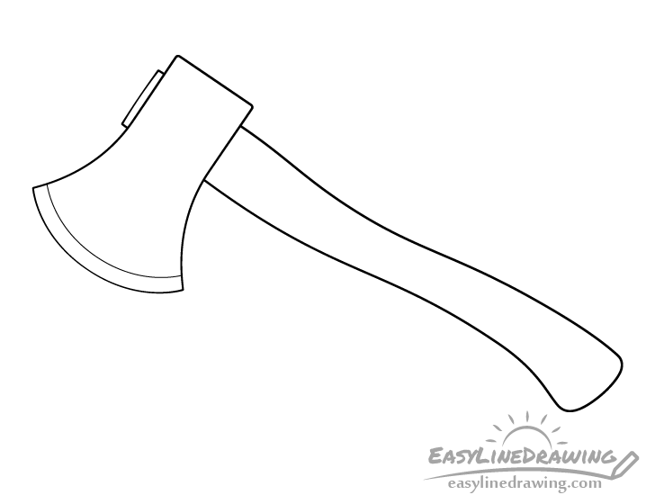 Axe line drawing