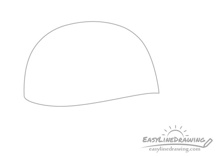 Baseball cap crown drawing