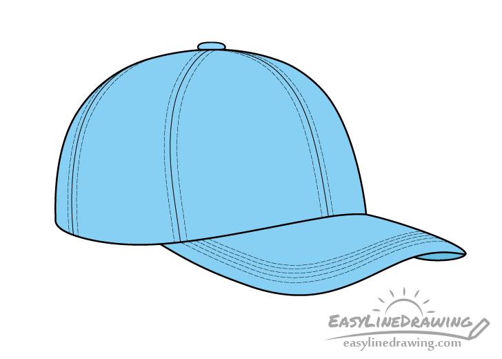 Baseball cap drawing