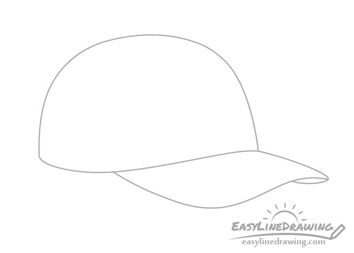 Baseball cap visor drawing