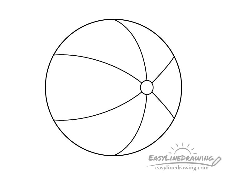 Beach ball line drawing