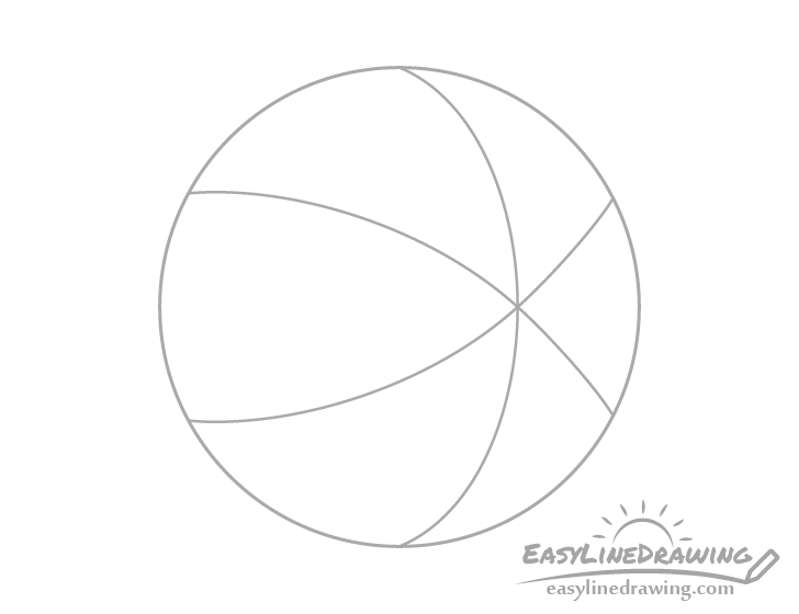 Beach ball sections drawing
