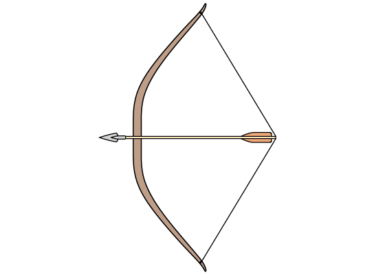 Bow and arrow drawing tutorial