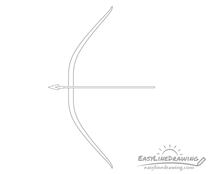 Bow and arrow tip drawing
