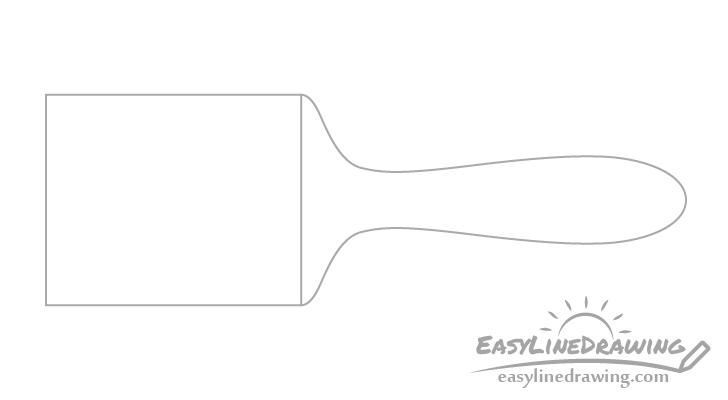 Brush handle drawing