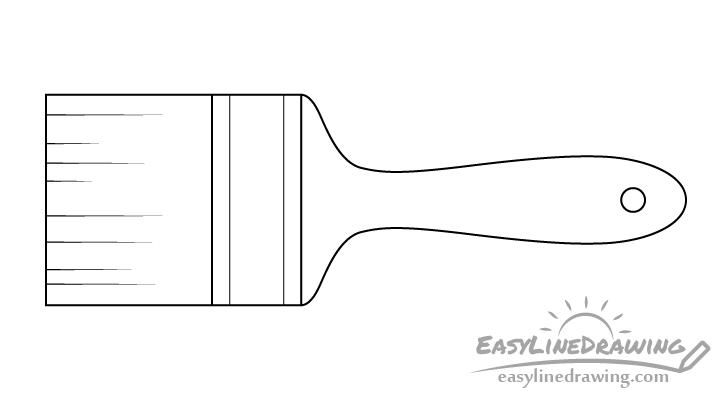 Brush line drawing