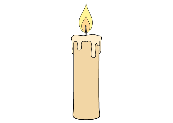 Candle drawing tutorial