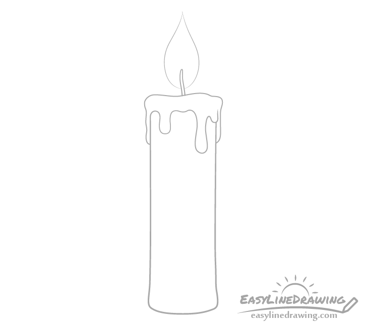 Candle flame drawing