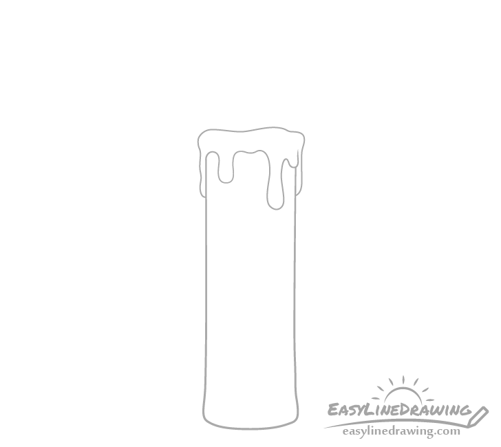 Candle wax drawing