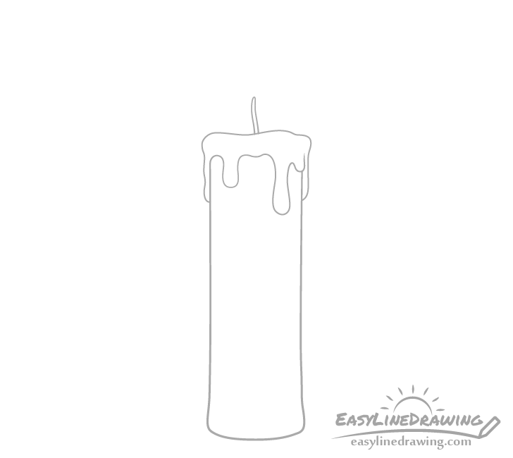Candle wick drawing