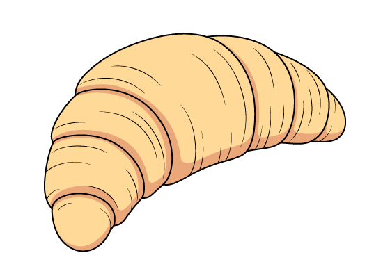 Croissant drawing tutorial