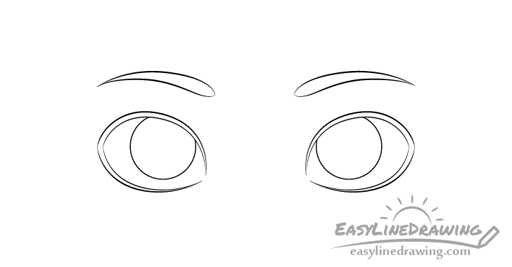 Eyes eyebrows drawing