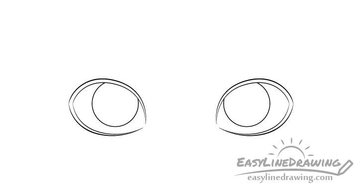 Eyes irises drawing