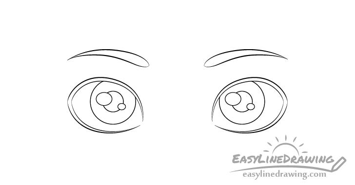 Eyes pupils drawing