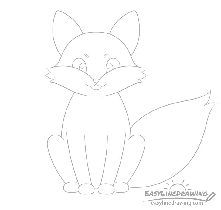 Fox eyes drawing