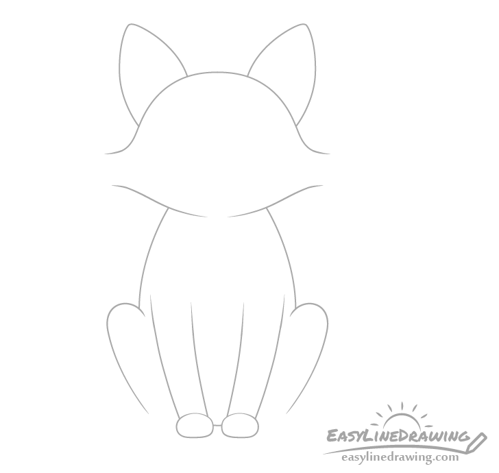 Fox front legs drawing