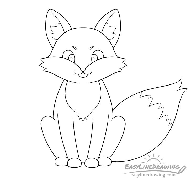 Fox line drawing