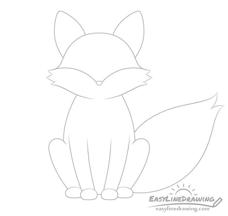Fox nose drawing