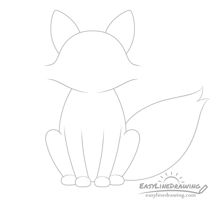 Fox tail drawing
