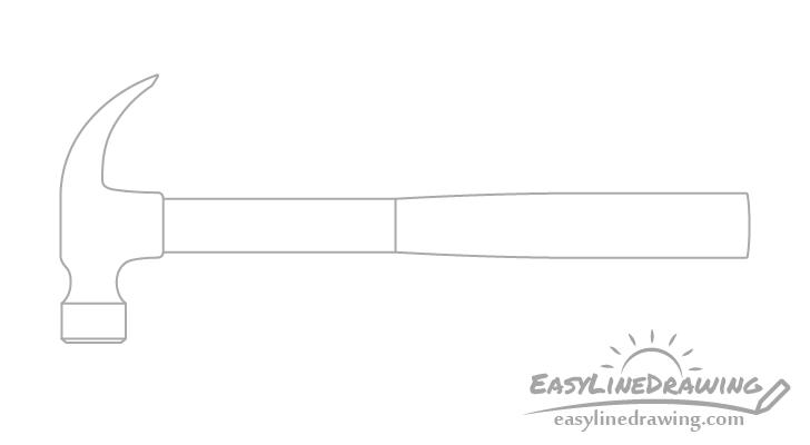 Hammer handle drawing