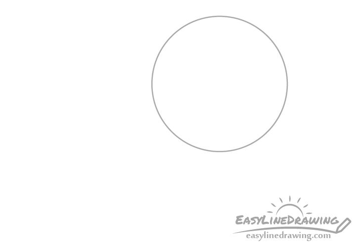 Magnifying glass circle drawing