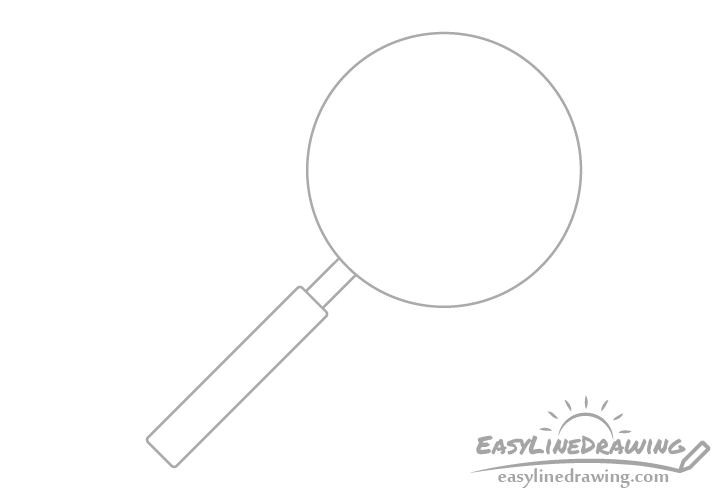 Magnifying glass handle drawing
