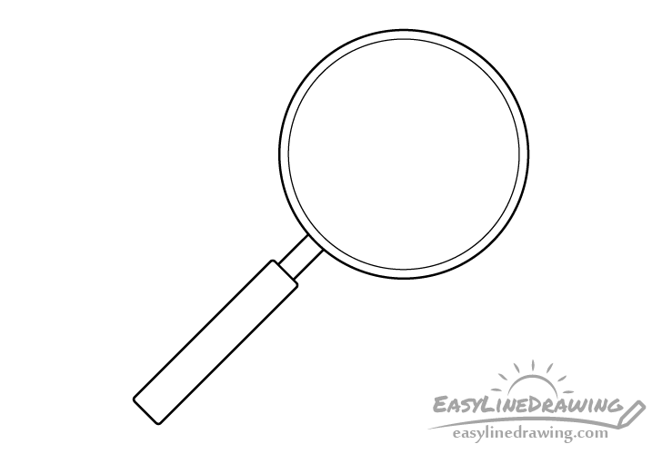 Magnifying glass line drawing