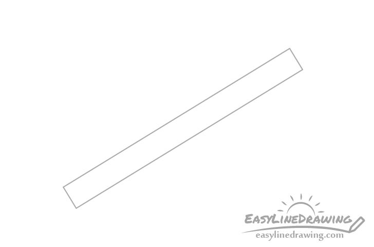 Pen barrel drawing