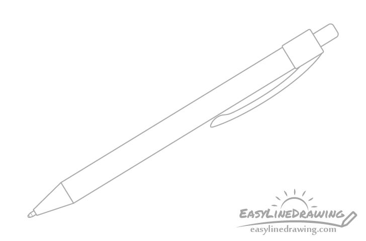 Pen clip drawing