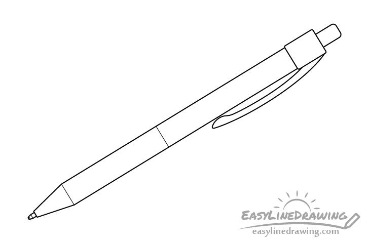 Pen line drawing