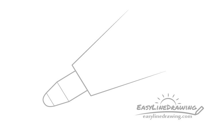 Pen tip close up drawing