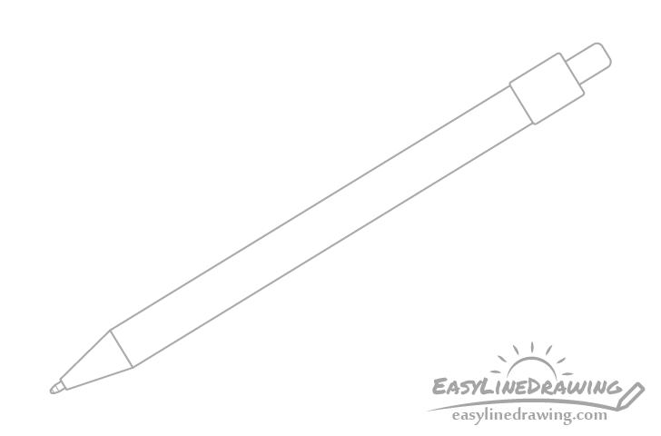 Pen tip drawing