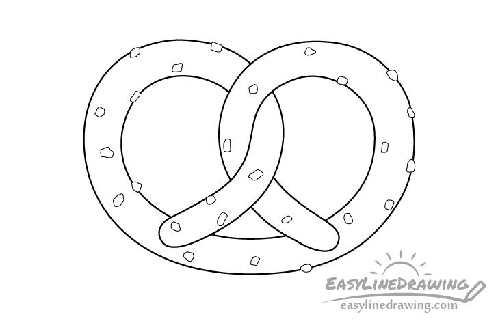 Pretzel line drawing